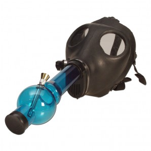 Gas Mask Bong - Sealed Acrylic Tube Straight