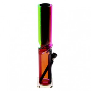 Acrylic ice bong 4 colors striped