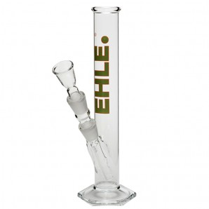 EHLE. Glass - Straight Cylinder Bong 250ml  - Green logo